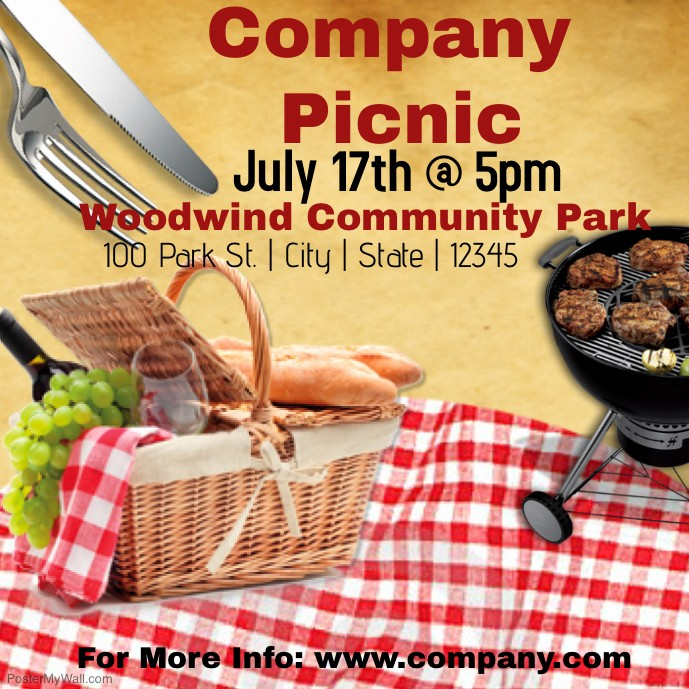 Company Picnic Flyer Template Free Fresh Pany Picnic Template