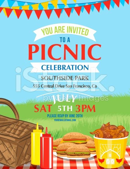 Company Picnic Flyer Template Free Fresh Summer Picnic and Bbq Invitation Flyer or Template Text