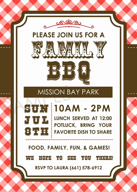Company Picnic Flyer Template Free Inspirational Family Bbq Picnic Family Reunion Western by