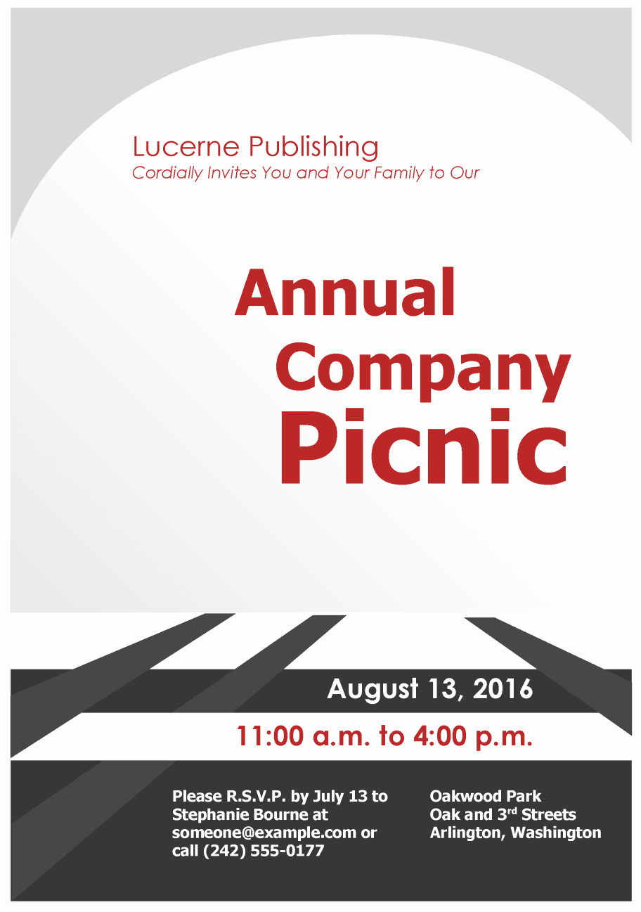 Company Picnic Flyer Template Free Inspirational Pany Picnic Invitation Flyer Template