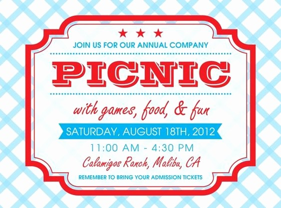 Company Picnic Flyer Template Free Inspirational Pany Picnic Invitations