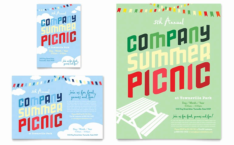 Company Picnic Flyer Template Free Inspirational Pany Summer Picnic Flyer & Ad Template Word & Publisher
