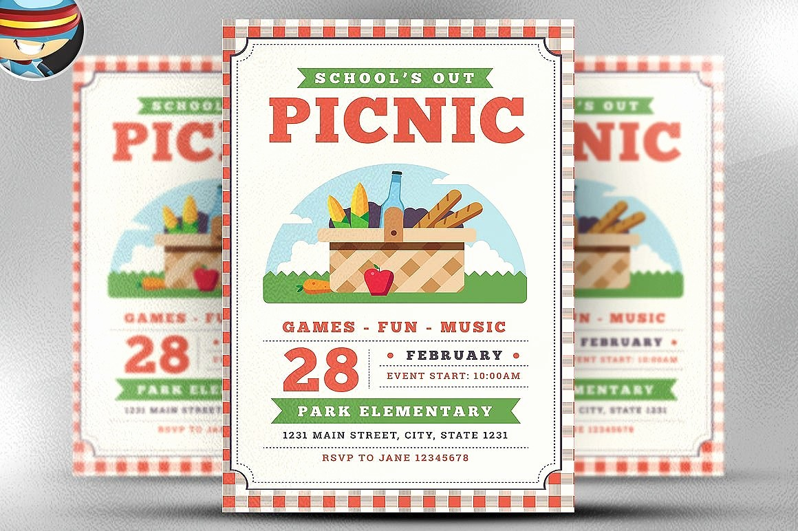 Company Picnic Flyer Template Free Inspirational School Out Picnic Flyer Template Flyer Templates