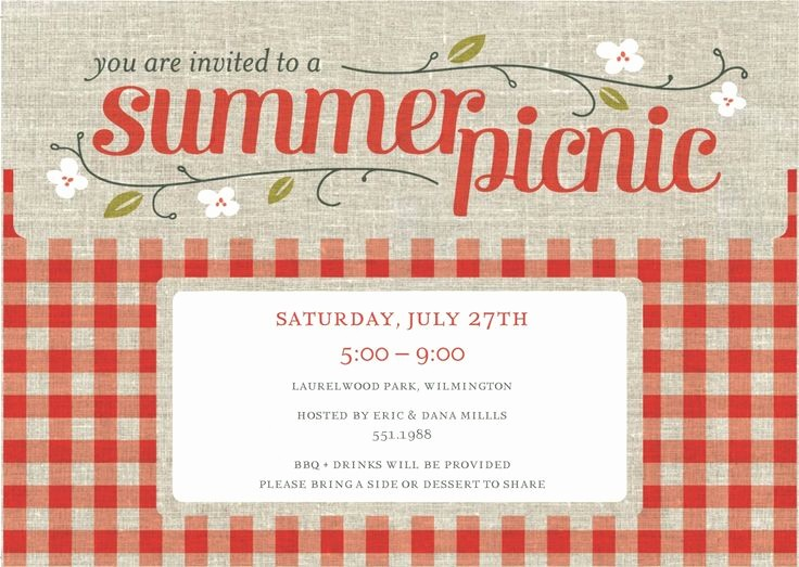 Company Picnic Flyer Template Free Lovely 1000 Ideas About Picnic Invitations On Pinterest