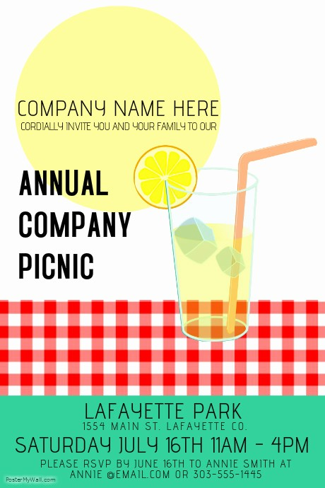 Company Picnic Flyer Template Free Lovely Pany Picnic Template