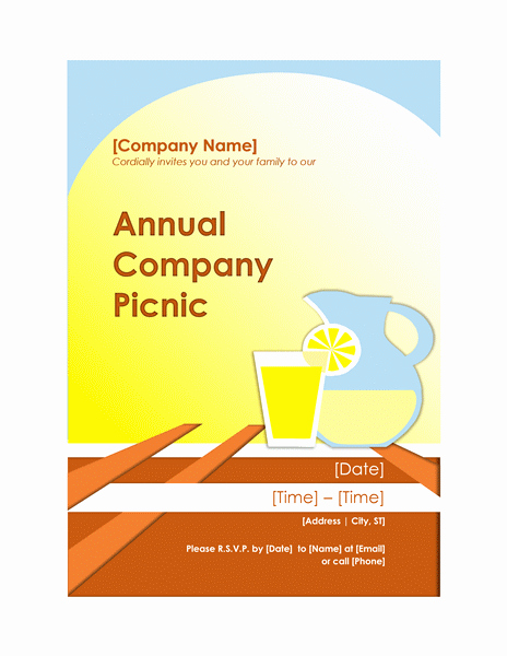 Company Picnic Flyer Template Free Luxury Food and Nutrition Fice
