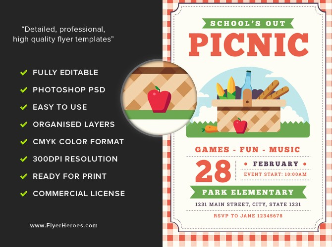 Company Picnic Flyer Template Free Luxury School S Out Picnic Flyer Template Flyerheroes
