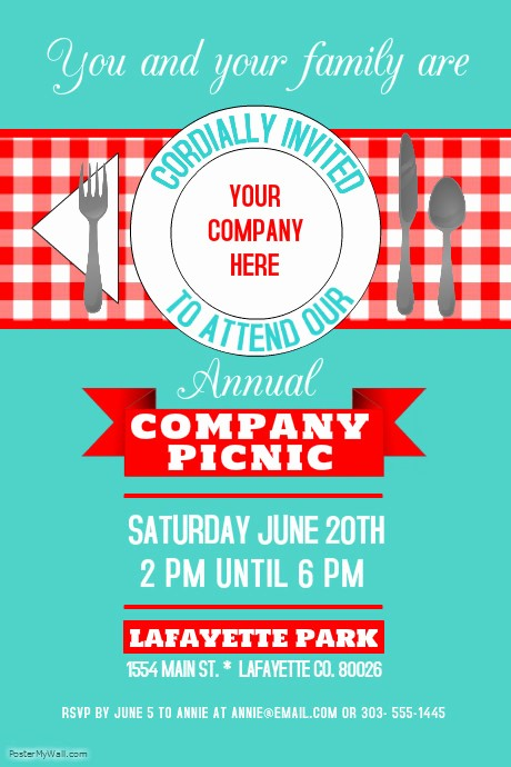 Company Picnic Flyer Template Free New Pany Picnic Template
