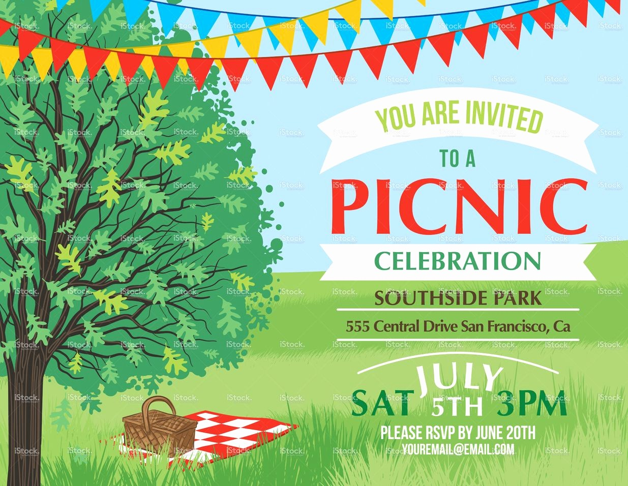 Company Picnic Flyer Template Free New Summer Picnic and Bbq Invitation Flyer or Template Text