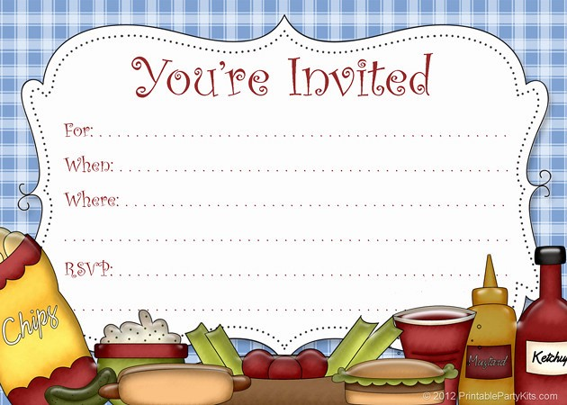 Company Picnic Flyer Template Free Unique Free Picnic Bbq or Cookout Invitation