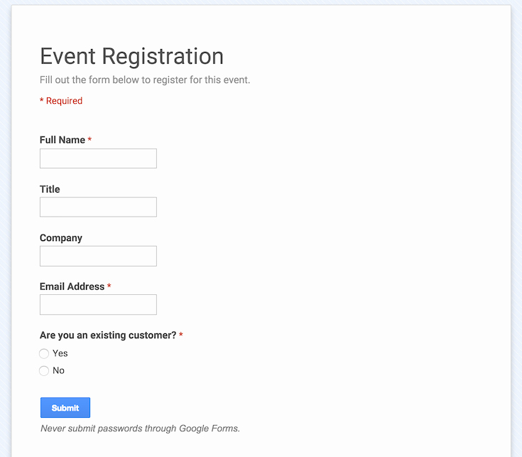 Concert Program Template Google Docs Lovely How to Integrate Google forms within Wordpress Wpmu Dev