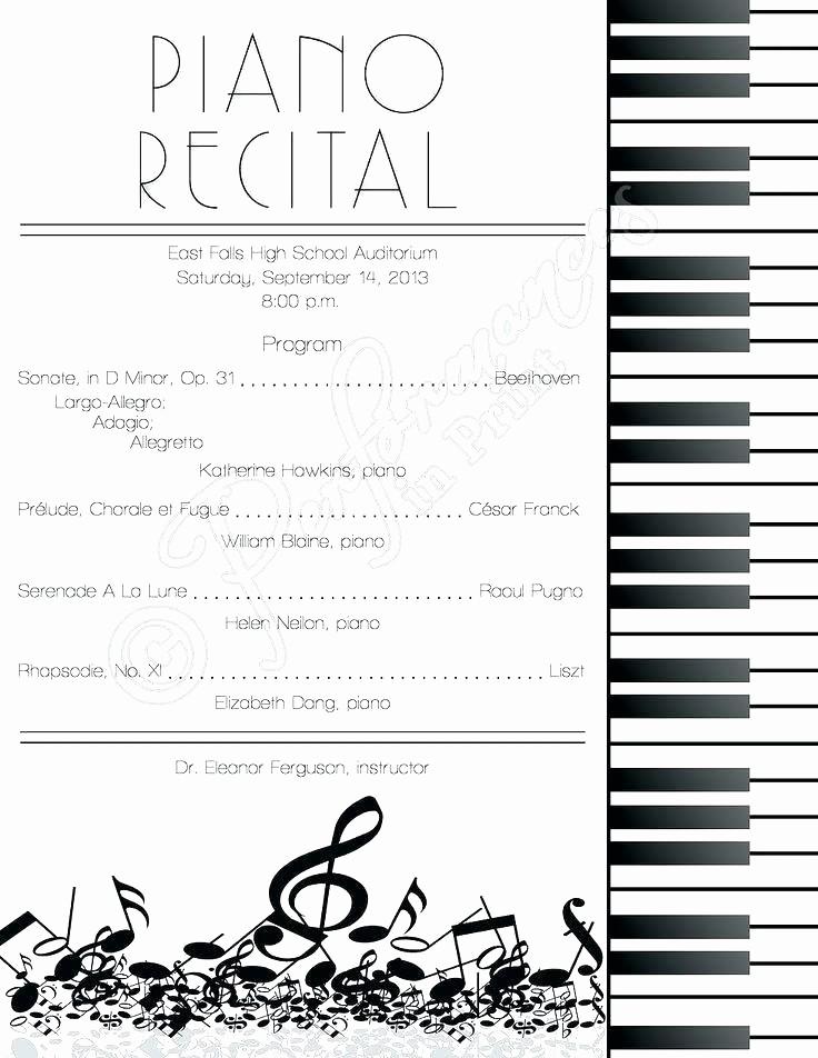 Concert Program Template Google Docs Luxury Music event Program Template – Edunova