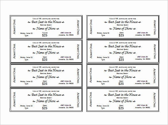 Concert Tickets Template Free Download Awesome Ticket Template – 91 Free Word Excel Pdf Psd Eps
