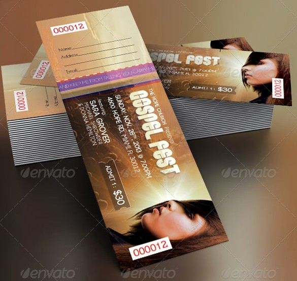 Concert Tickets Template Free Download Beautiful 115 Ticket Templates Word Excel Pdf Psd Eps
