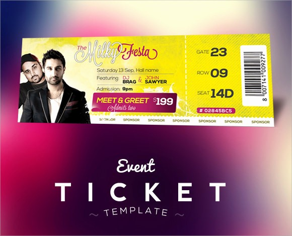 Concert Tickets Template Free Download Beautiful 21 Sample Concert Ticket Templates