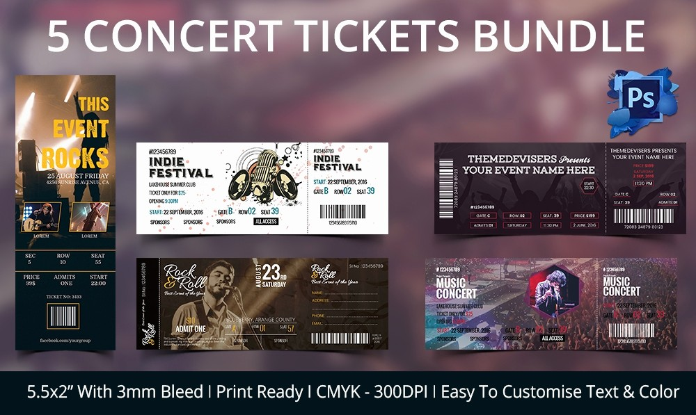 Concert Tickets Template Free Download Elegant Ticket Template – 91 Free Word Excel Pdf Psd Eps