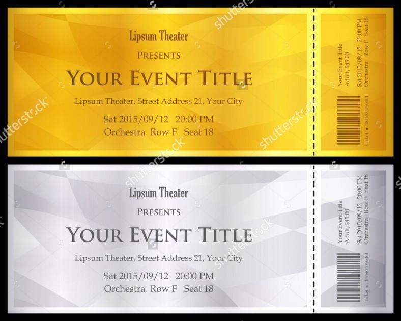 Concert Tickets Template Free Download Inspirational 11 Ticket Voucher Template Psd Eps