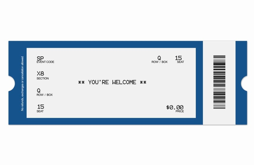 Concert Tickets Template Free Download Lovely Concert Ticket Template
