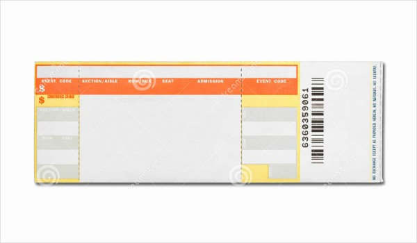 Concert Tickets Template Free Download Lovely Printable Concert Ticket Template