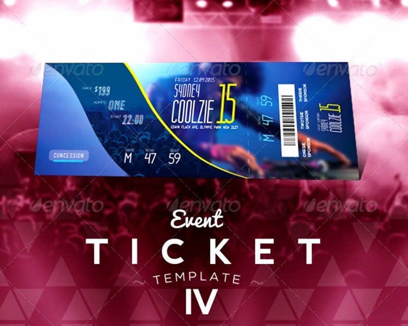 Concert Tickets Template Free Download Luxury 18 event Ticket Templates Psd Mockup Depot