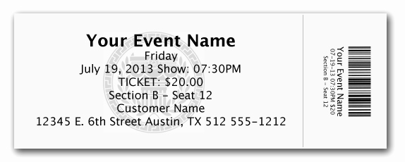Concert Tickets Template Free Download Luxury Elegant Admission Ticket Template Example with event Name