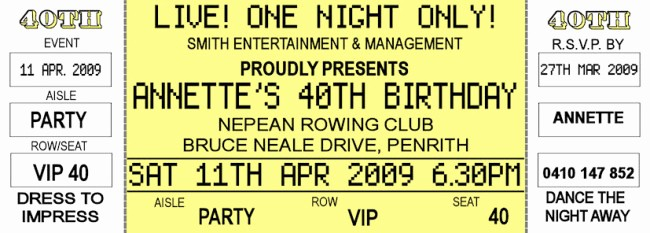 Concert Tickets Template Free Download New Simply Classic Concert Ticket Template Example with Yellow
