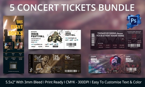 Concert Tickets Template Free Download New Ticket Template – 91 Free Word Excel Pdf Psd Eps