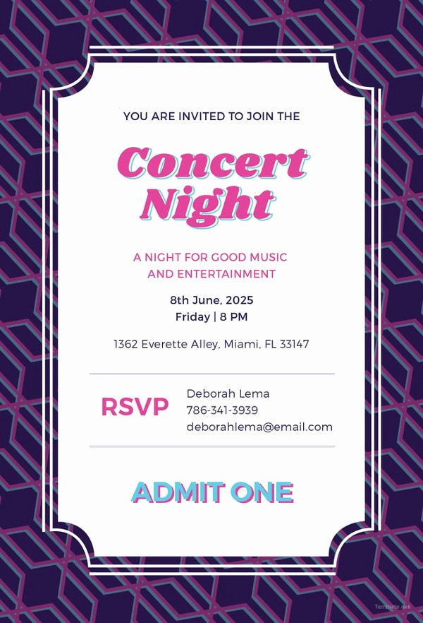Concert Tickets Template Free Download Unique Ticket Invitation Template 59 Free Psd Vector Eps Ai
