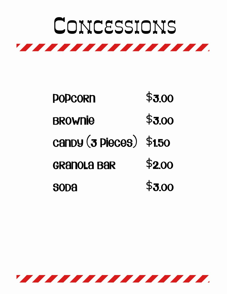 Concession Stand Sign Up Sheet Awesome 18 Of Concession Stand Price Sheet Template