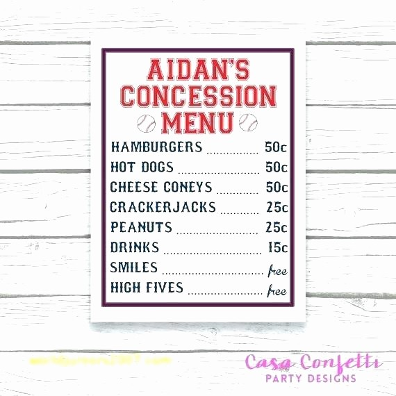 Concession Stand Sign Up Sheet Awesome 90 Concession Stand Sign Template Free Price List