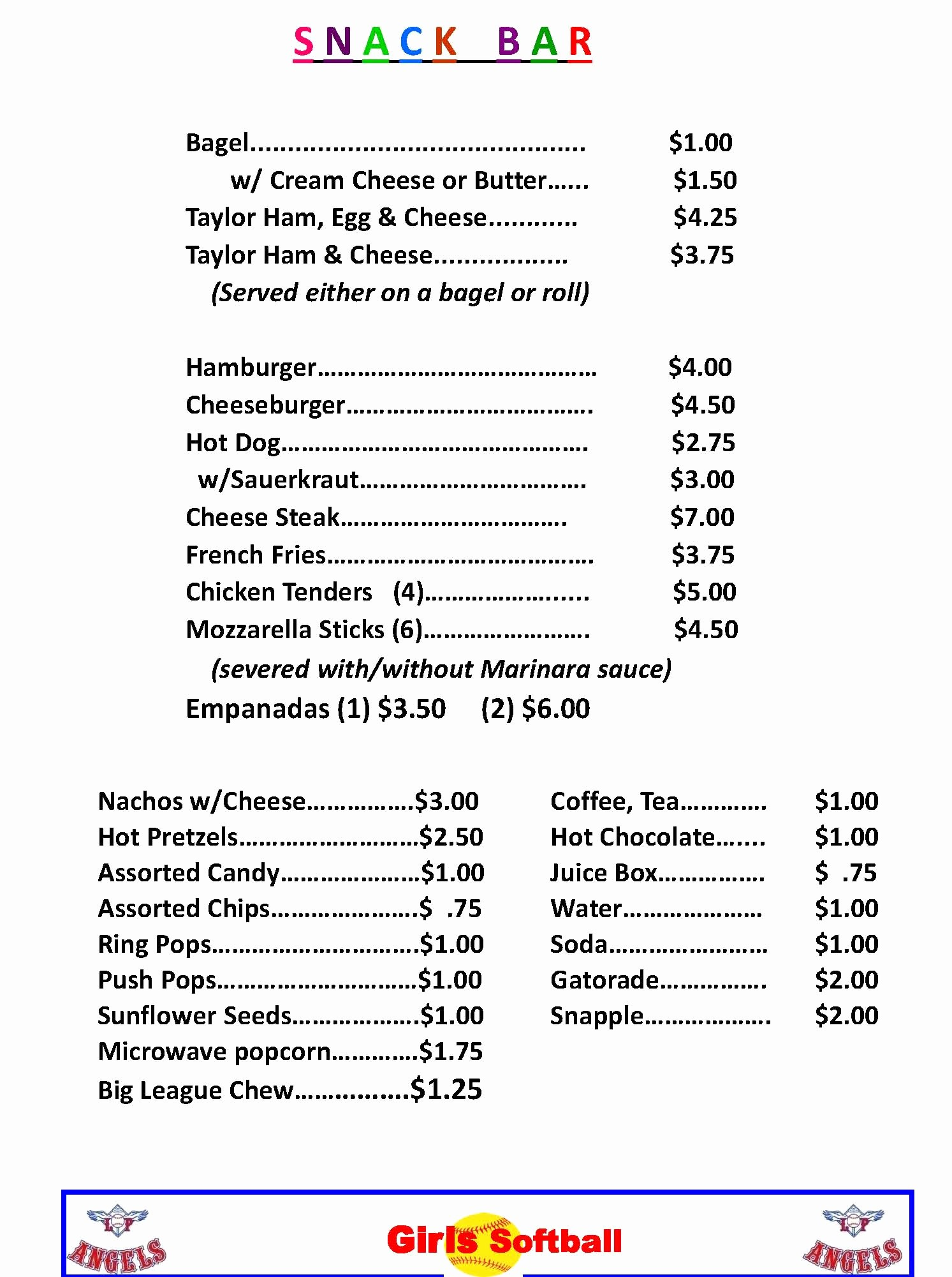 Concession Stand Sign Up Sheet Lovely 18 Of Concession Stand Price Sheet Template