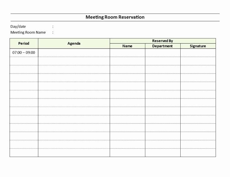 Conference Room Sign Up Template Elegant Meeting Room Reservation Sheet Download This Meeting