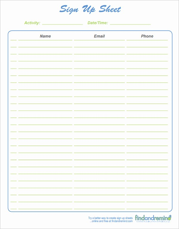 Conference Sign In Sheet Template Unique 4 Sign In Sheet Templates Excel Xlts