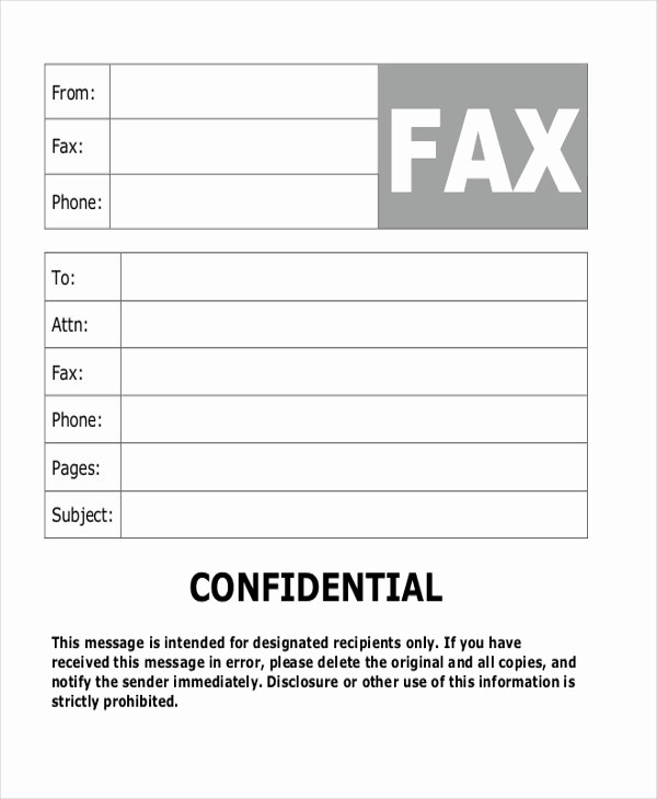 Confidential Fax Cover Sheet Pdf Beautiful 8 Sample Fax Cover Letters In Pdf