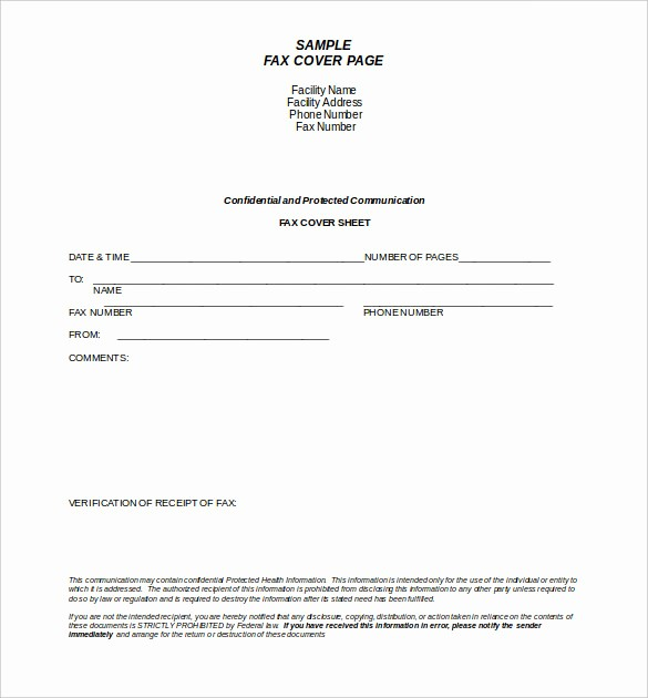Confidential Fax Cover Sheet Pdf Elegant 9 Confidential Fax Cover Sheet Templates Doc Pdf