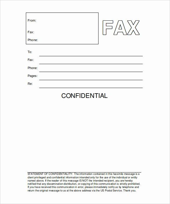 Confidential Fax Cover Sheet Pdf Elegant Fax Template Word Template Design Ideas