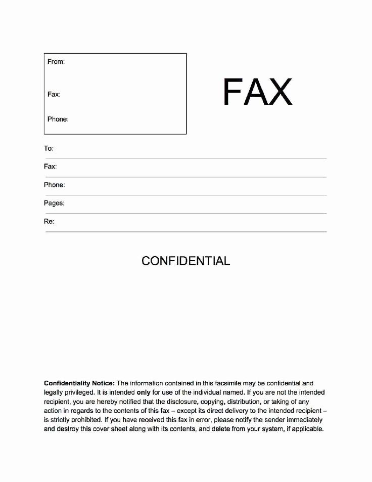 Confidential Fax Cover Sheet Pdf Fresh Confidential Fax Cover Sheet