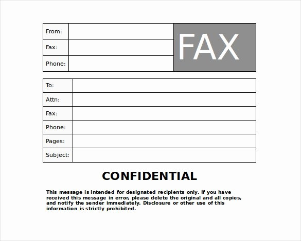 Confidential Fax Cover Sheet Pdf Lovely Confidential Fax Cover Sheet Template Fax Cover Sheet