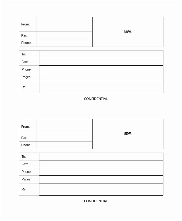Confidential Fax Cover Sheet Pdf New 9 Blank Fax Cover Sheet Samples