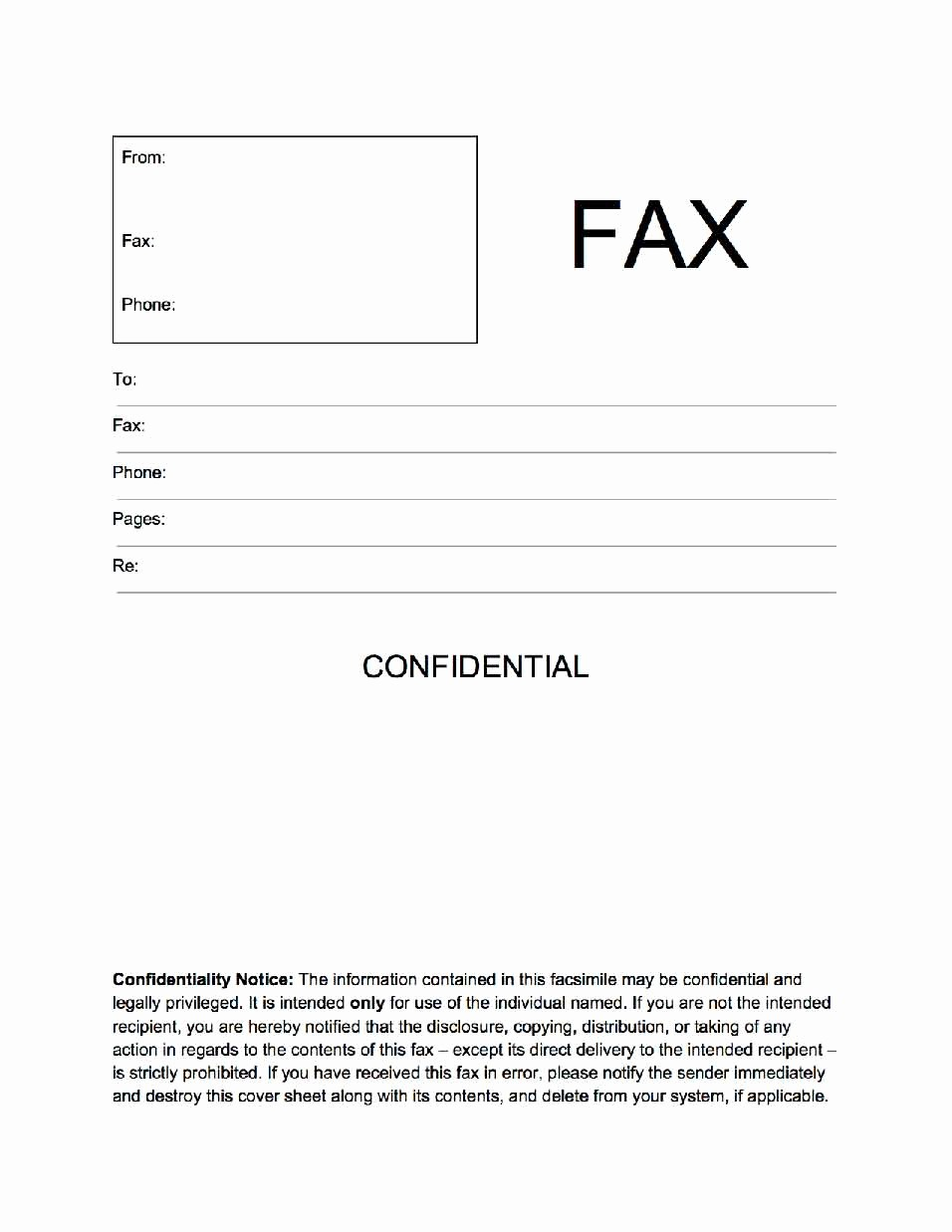 fax cover sheet confidential 869