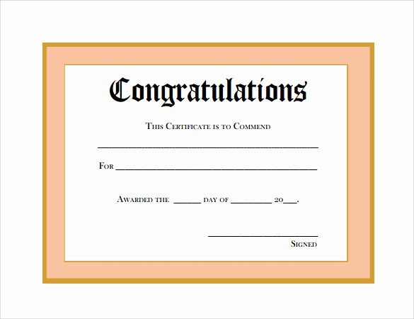 Congratulations Certificate Template Microsoft Word Beautiful 11 Thank You Certificate Templates