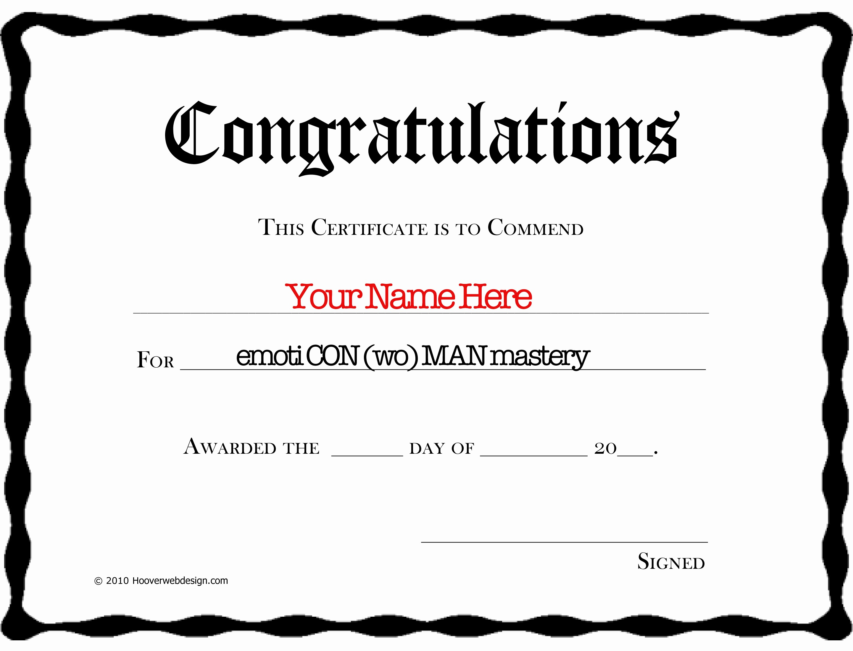 Congratulations Certificate Template Microsoft Word Beautiful Emoti Con Wo Man