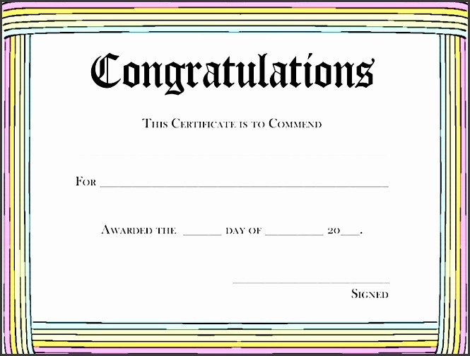 Congratulations Certificate Template Microsoft Word Elegant 8 Printable Certificate Appreciation Template