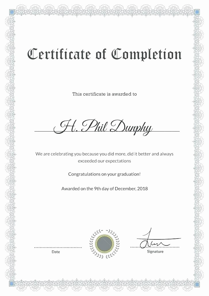 Congratulations Certificate Template Microsoft Word Elegant Congratulations Certificate Template Sample