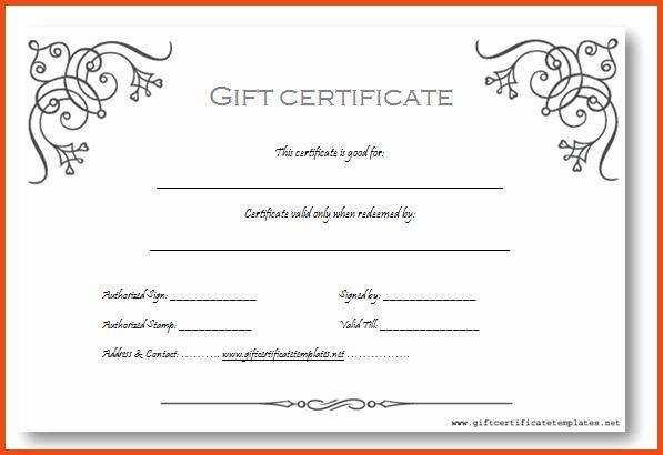 Congratulations Certificate Template Microsoft Word Elegant Gift Certificate Template In Word 2018 Certificate
