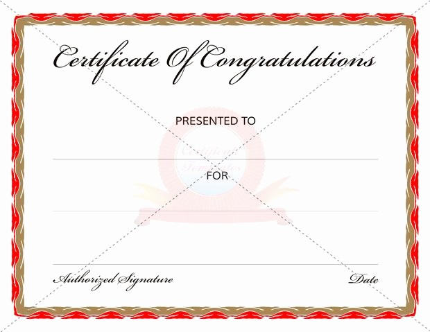 Congratulations Certificate Template Microsoft Word Lovely Congratulation Certificate Templates