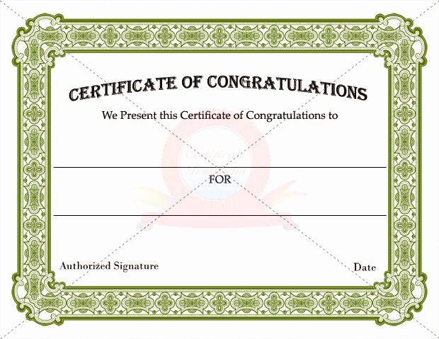 Congratulations Certificate Template Microsoft Word Luxury Congratulation Certificates