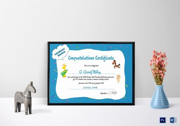 Congratulations Certificate Template Microsoft Word Luxury School Certificate Template 24 Free Word Psd format