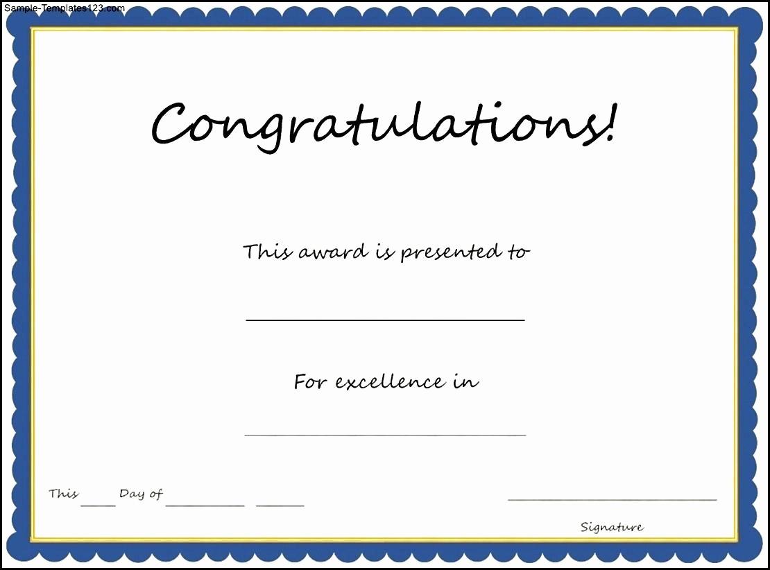 Congratulations Certificate Template Microsoft Word New Congratulations Certificate Template