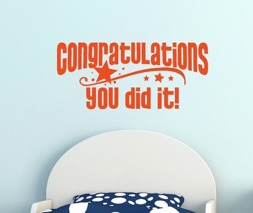 Congratulations You Did It Certificate Awesome Congratulations You Did It Graduation Wall Decal Vinyl